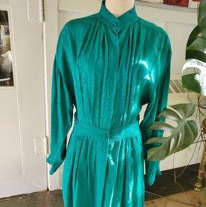 Vintage Holt Renfrew 100% Silk Dress